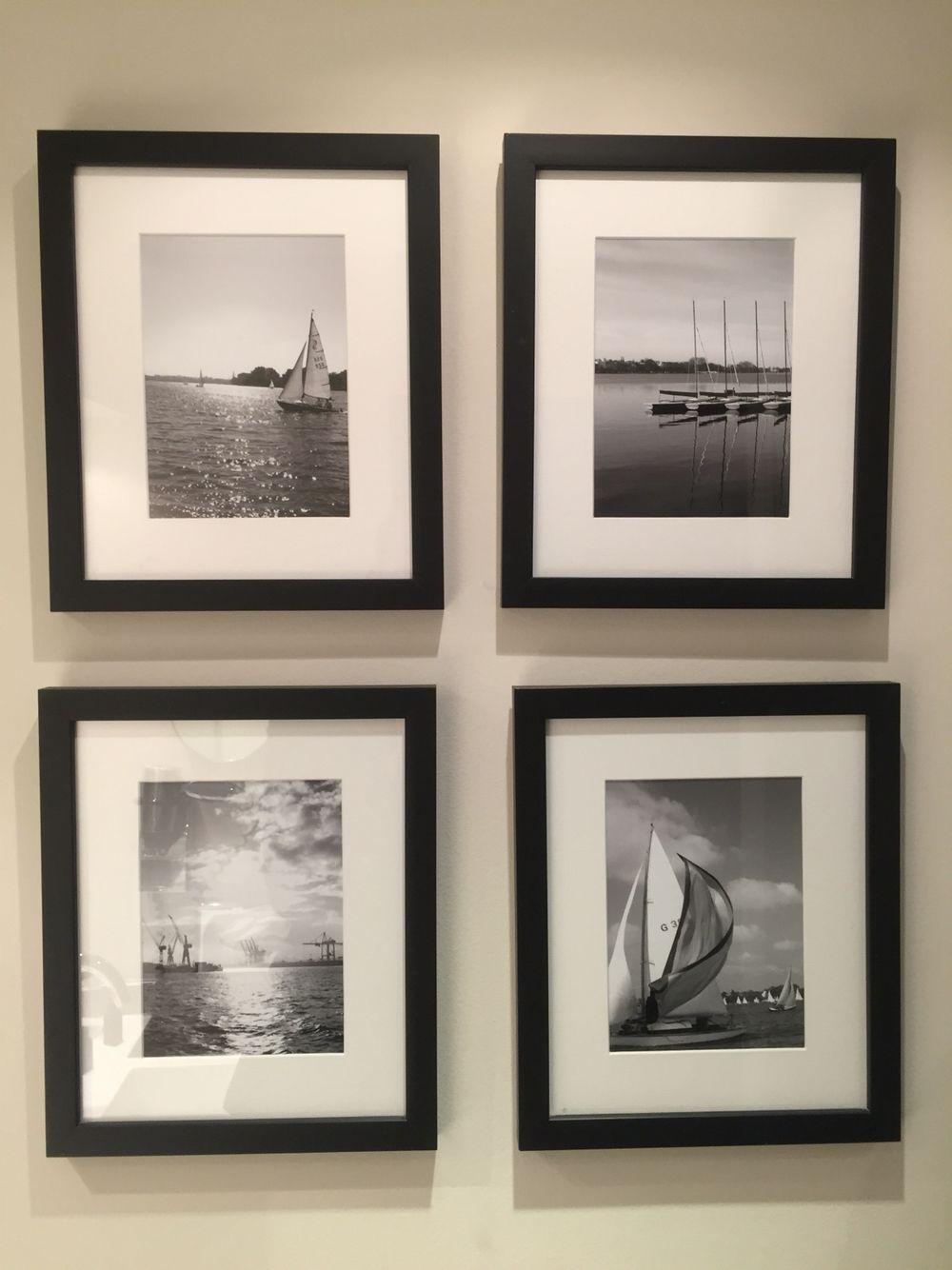 Schwarz / Weiß Photos von Segelboot Motiven mit schwarzen ...