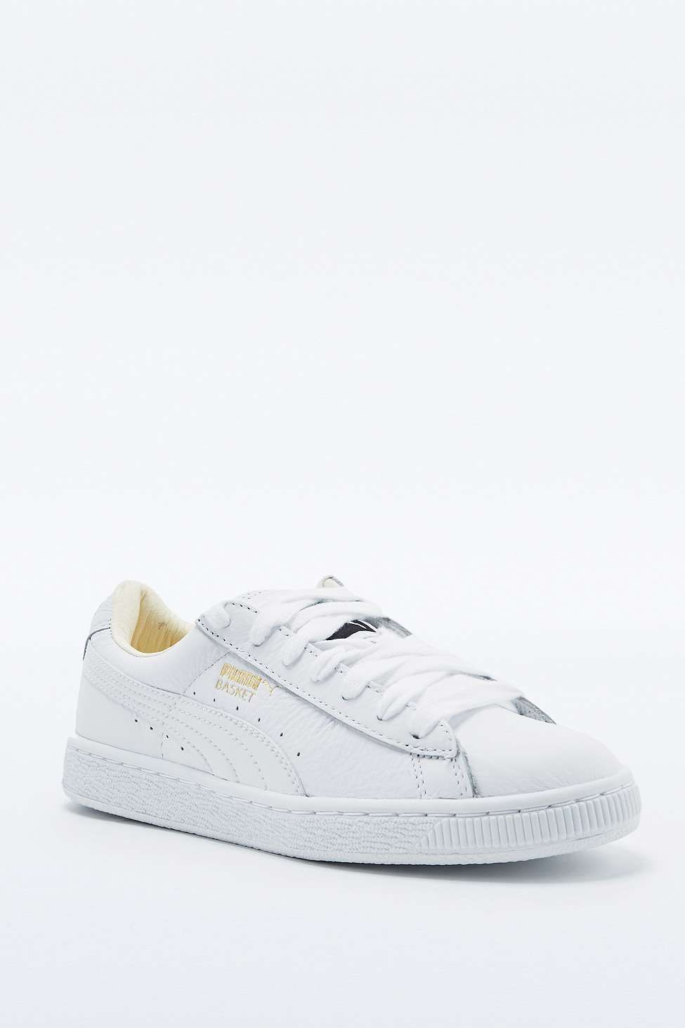 Puma - Baskets classiques en cuir blanches