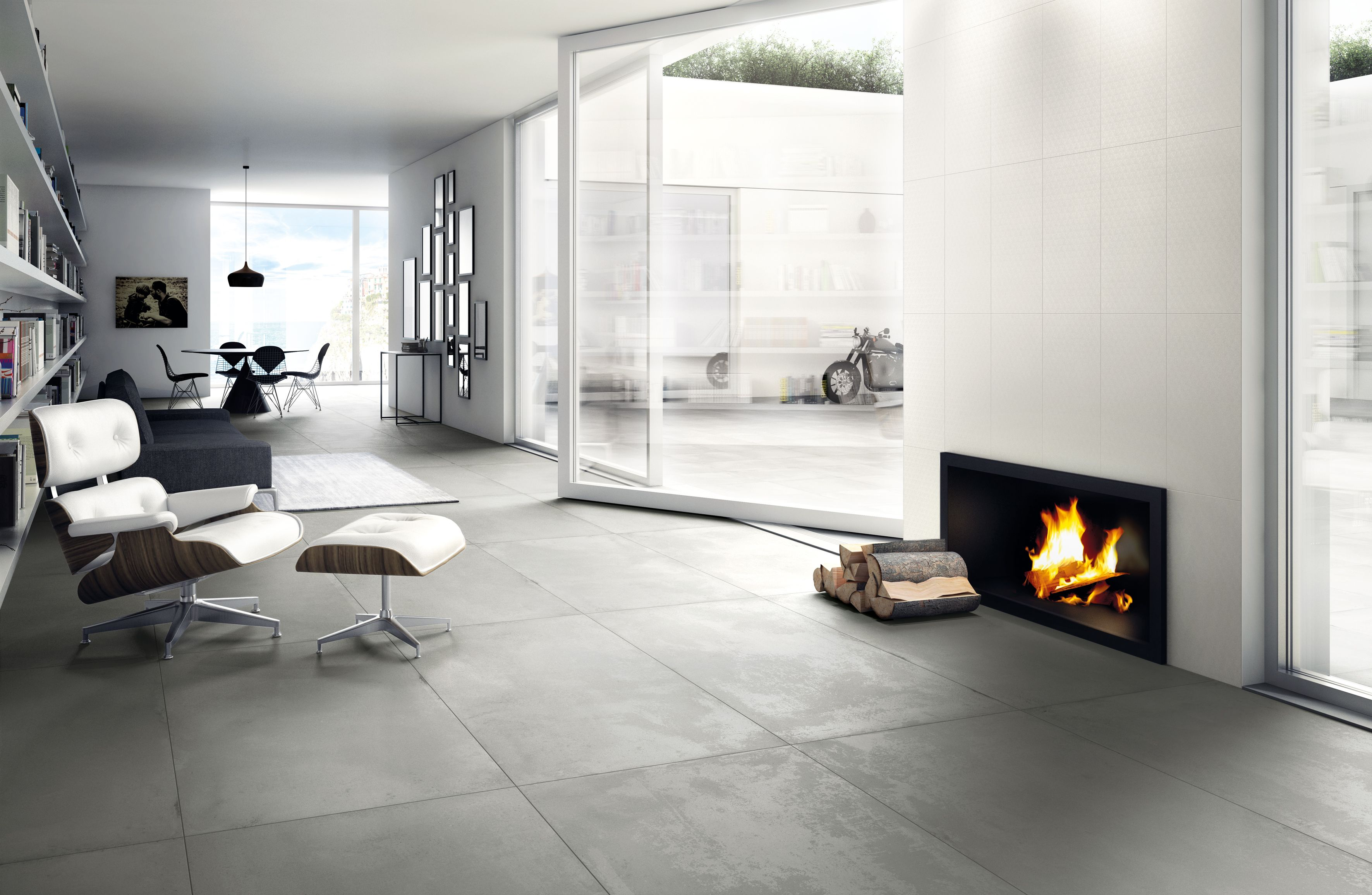 Carrelage Interieur Effet Beton Use 80x160 Gris Naturel Rectifie