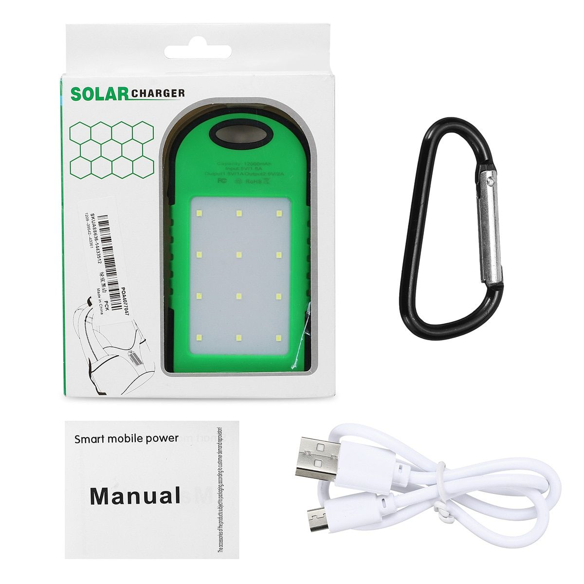 Sold 5121640591 Items 12000mah Dual Usb Portable Waterproof Solar Panel Power Bank Battery Multifu Cell Phone Charger Solar Panels Portable Cell Phone Charger