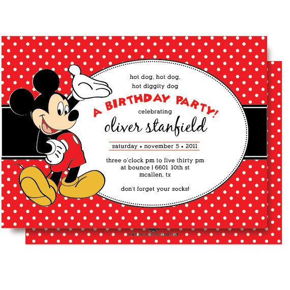 Mickey+Mouse+Birthday+Invitations+by+DelightPaperie+on+Etsy,+$20.00