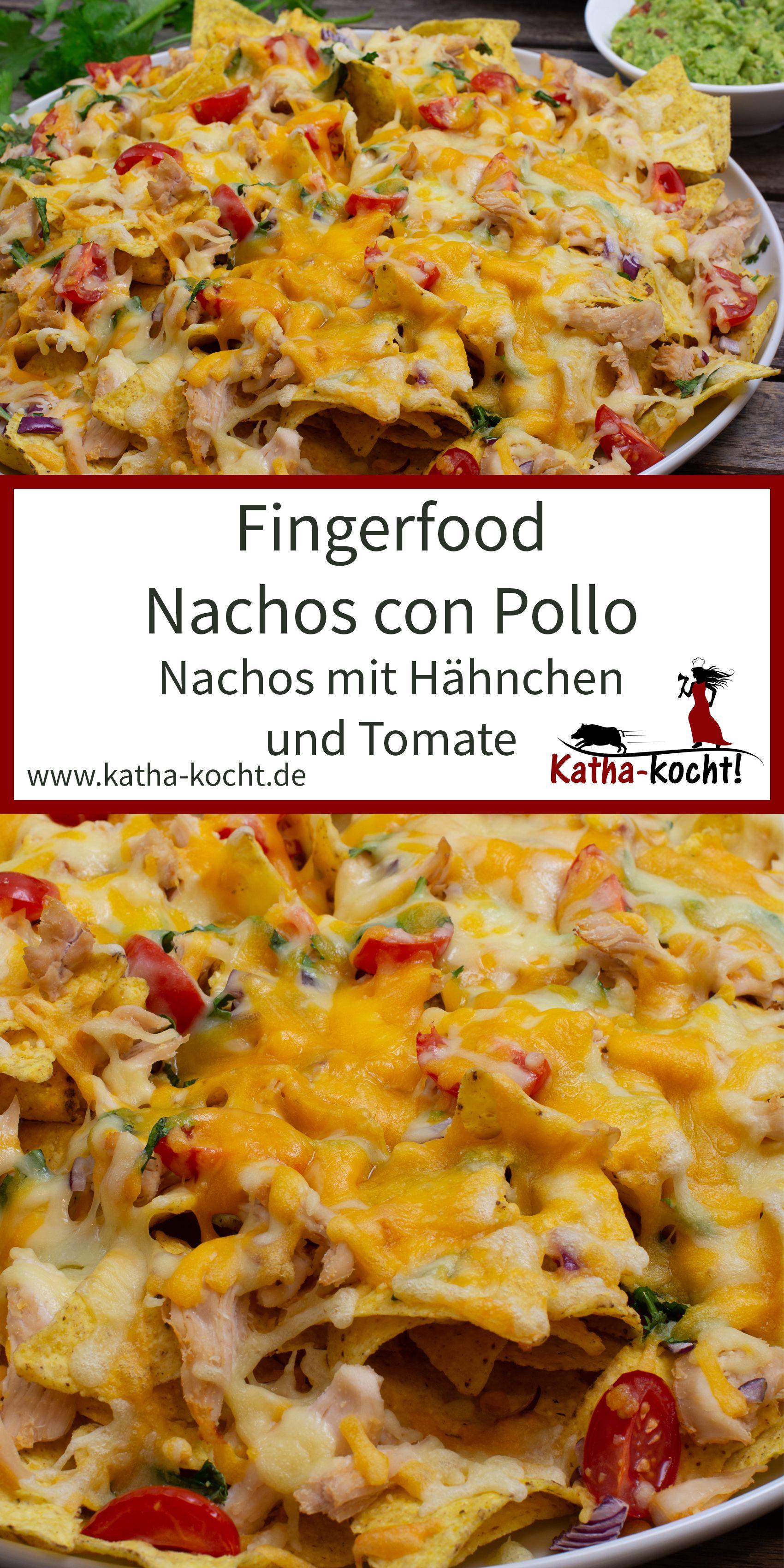 Nachos mit Hähnchen und Tomate #mexicanchickentacos