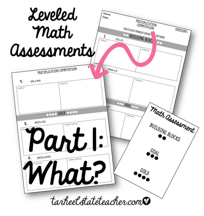 What is a Leveled Math Assessment? Tips & Ideas for Math