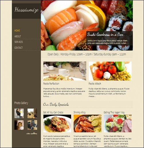 Restaurant Menu 405 has been published! for Christmas offers at - free food menu template