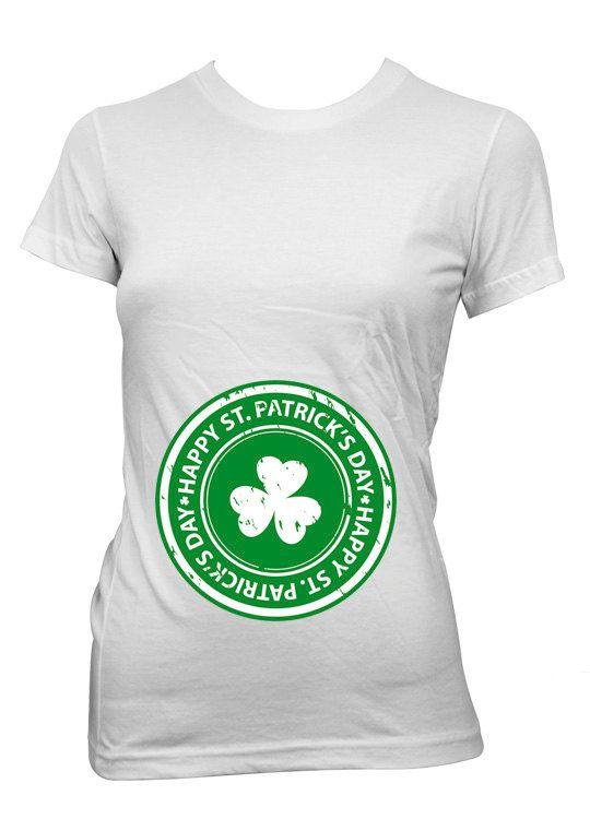 df10f490d5dd0 Irish Maternity shirt St. Patricks Day tshirt custom by StoykoTs ...