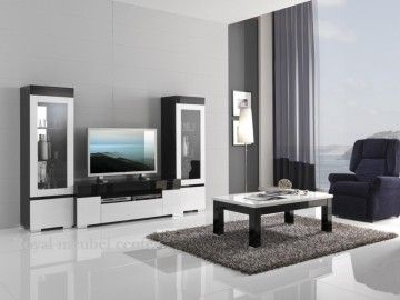Woonkamer meubel Italiaanse Hoogglans zwart & wit 2 - Woonkamer ...