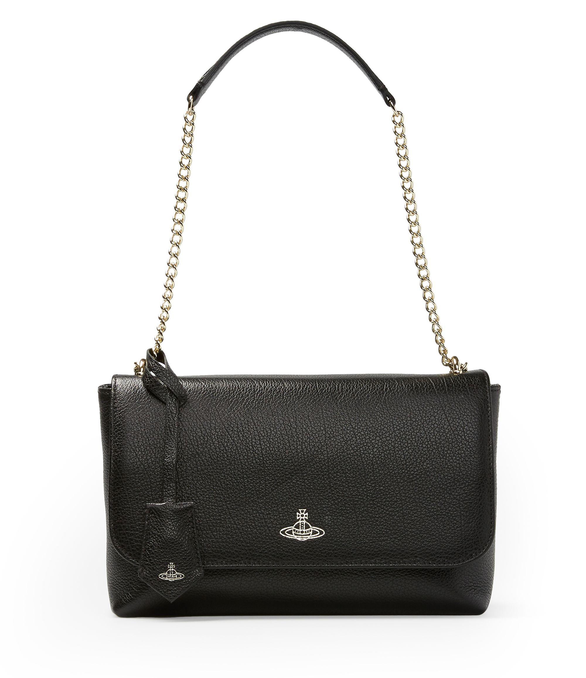 Top Handle Handbag, Anglomania, Black, Patent, 2017, one size Vivienne Westwood