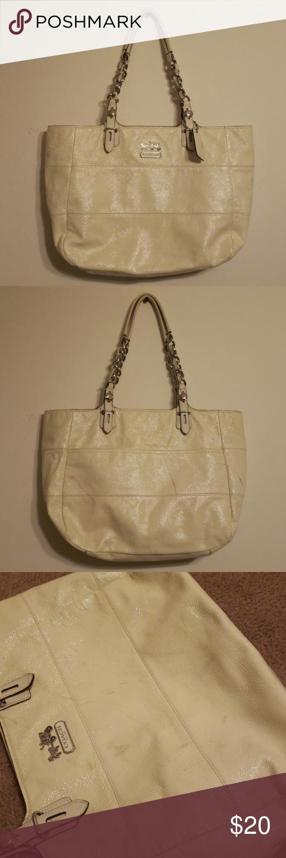 Coach Madison Tribeca 14123 Off White Has Marks Women S Handbag Satchel