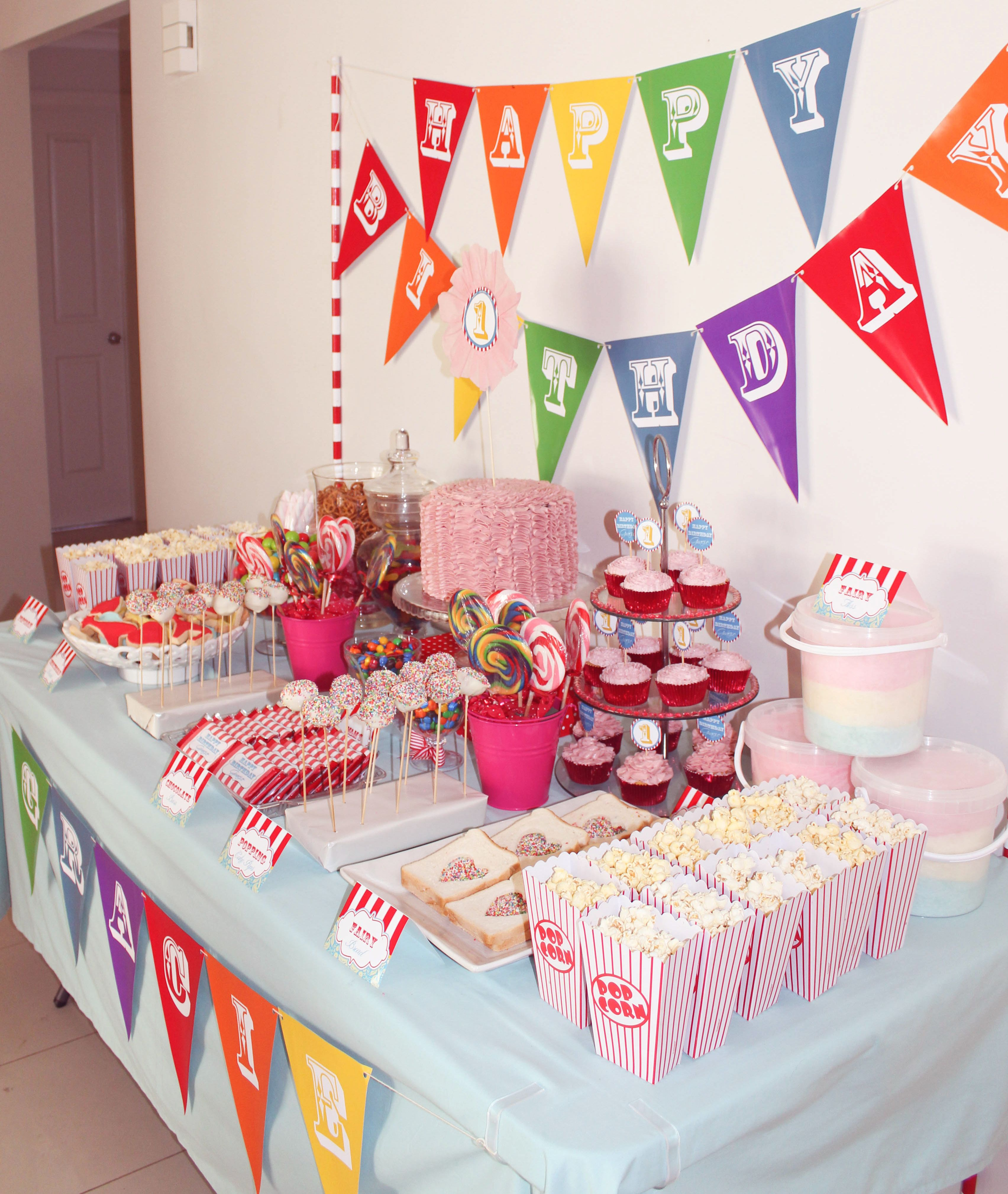 Circus theme candy buffet | Circus birthday, Candy buffet ...