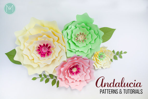 Giant Paper Flower Backdrop Andalucia Patterns And Tutorials