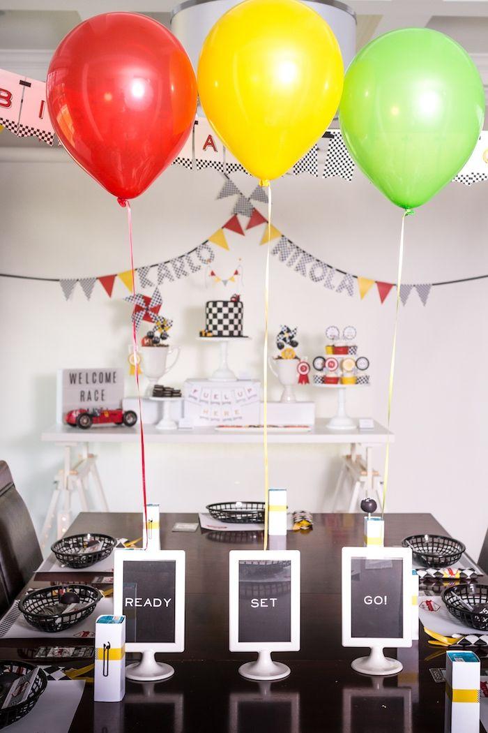 Modern Race Car Birthday Party
