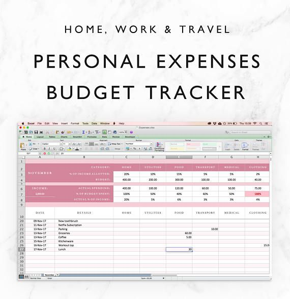 expenses tracker spreadsheet budget planner financial planner