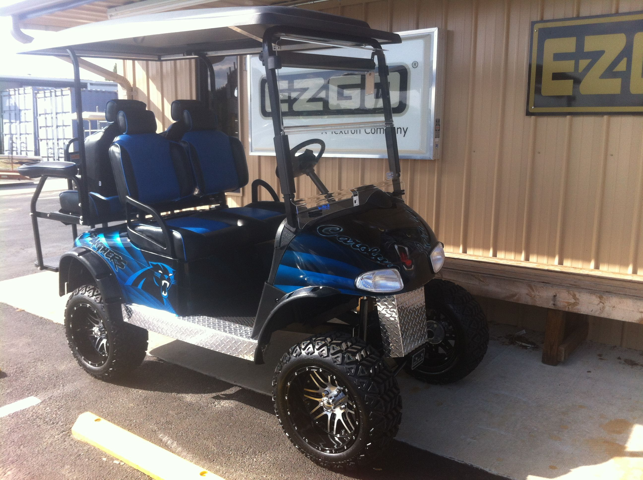 Just finished! Carolina Panthers Cart! Ain't it a y beast ... on