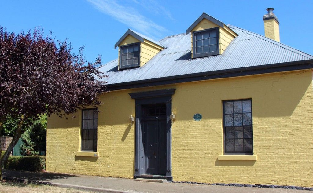 Yellow house in Westbury Village Tasmania
