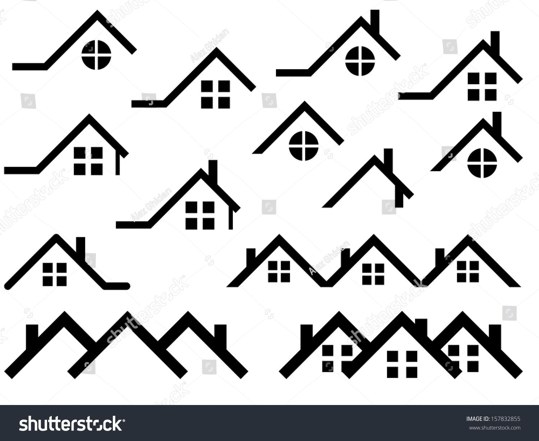 House Roof Set Illustrated On White Ad Aff Roof House Set White House Roof Property Logo Design House Illustration