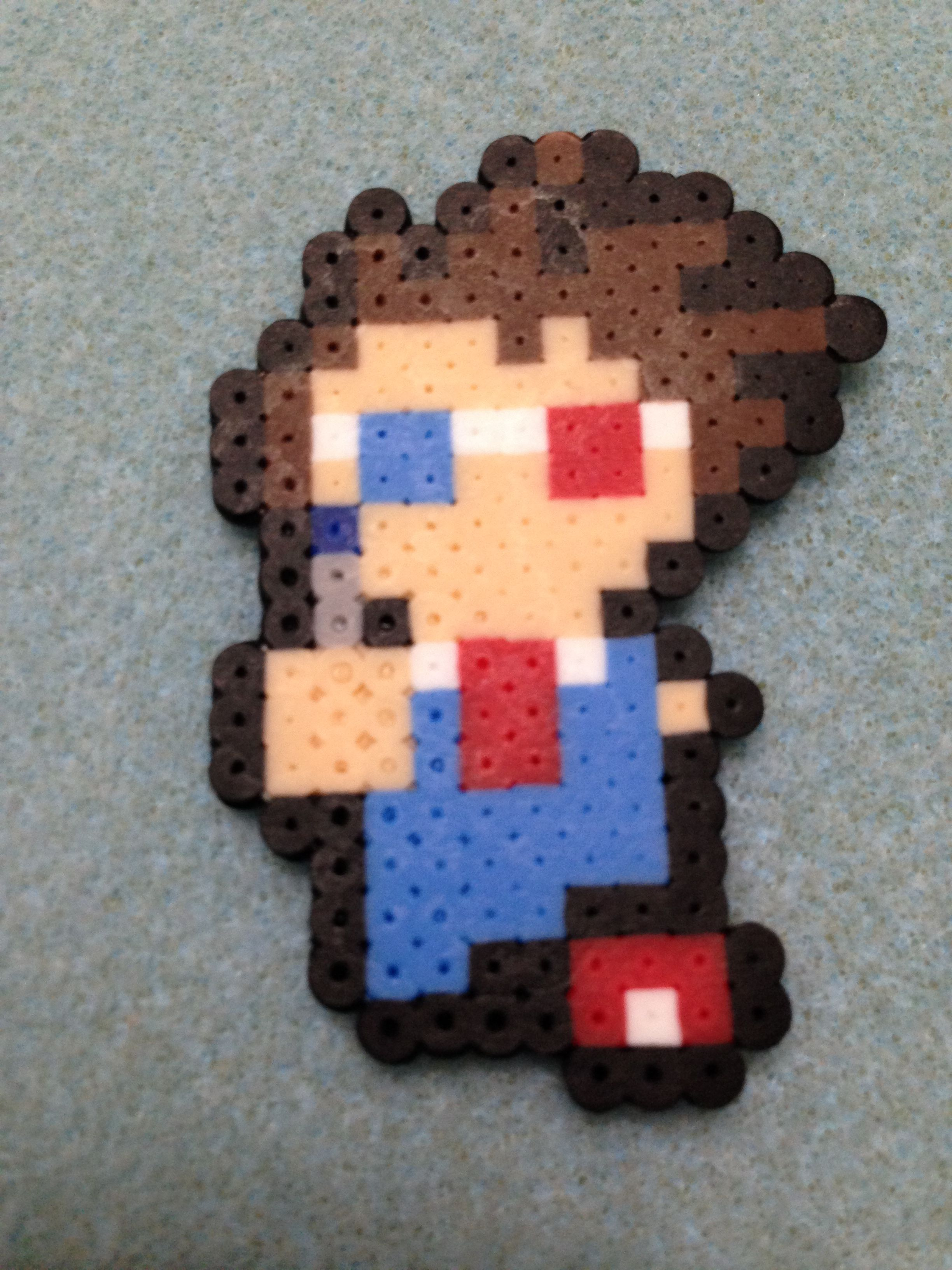 10th Doctor. David Tennant. 3D Glasses.  Dr. Who.  Mini Perler Beads.