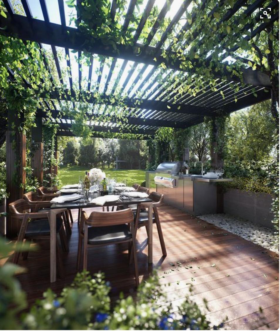 Bbq Pergola Floor Textures Backyard Garden Design Outdoor Pergola Outdoor Dining Area