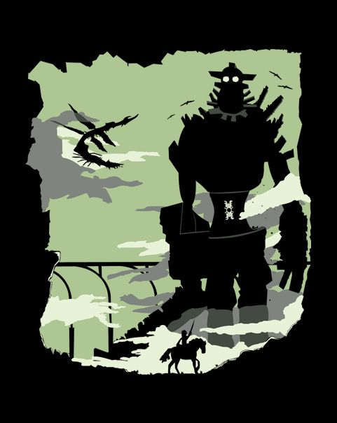 : Silhouette of the Colossus T-Shirt $10 Shadow of  the Colossus Tee