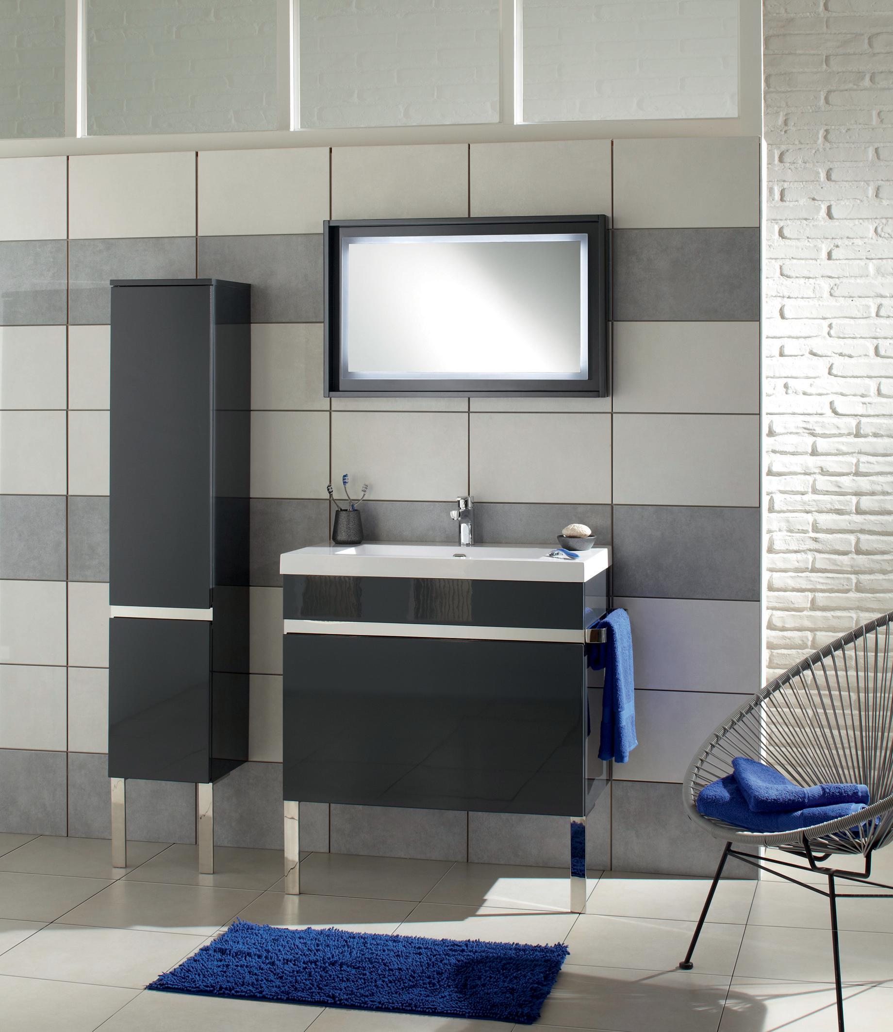 meuble new york gris 80cm salle de bain pinterest salle de