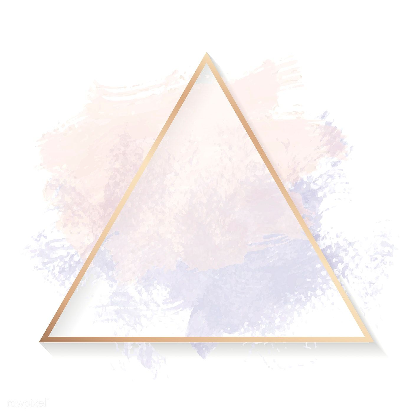 Gold Triangle Frame On A Pastel Pink And Purple Background Vector Free Image By Rawpixe Pink And Purple Background Gold Circle Frames Gold Triangle Wallpaper