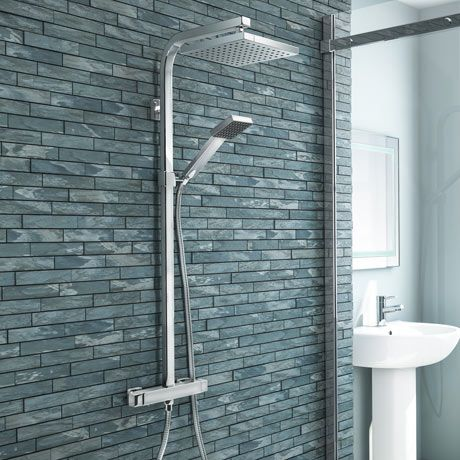 Buy Now Milan Modern Chrome Thermostatic Shower Shower Valve Shower Panels Modern Shower