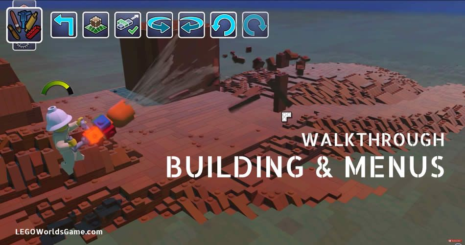 LEGO Worlds Walkthrough - Building & Menus LegoWorldsGame.com #legoworldsgame