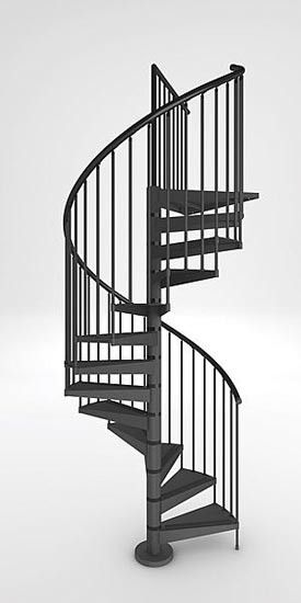Spiral Staircase Is Build On Each Of The Two Sides Of The