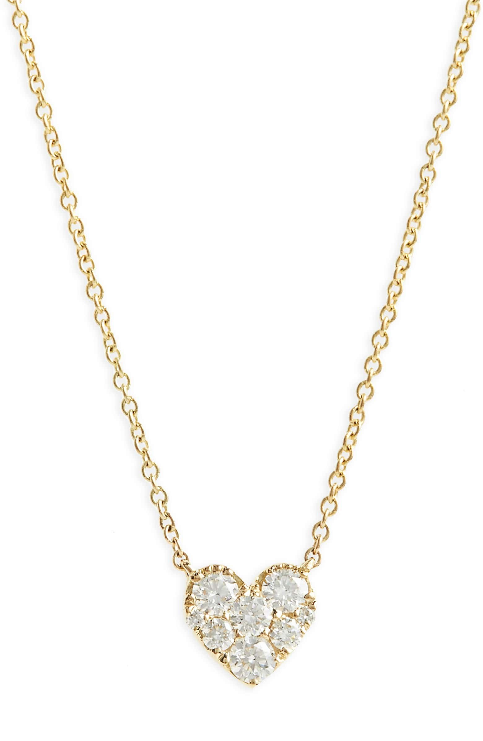 1eb808249ce77 Heart Diamond Pendant Necklace, Main, color, YELLOW GOLD | Idea List ...