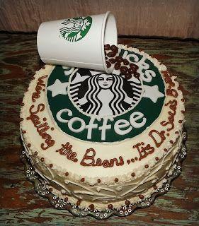 Amazing Mandys Cakes Were Spilling The Beans Starbucks Birthday Cake Funny Birthday Cards Online Unhofree Goldxyz