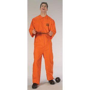 Jail Bird Costume Mens Medium