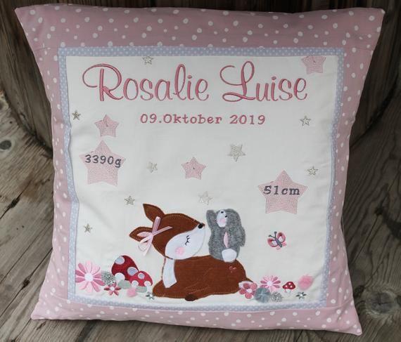 Baby pillow,deer, bunny, 40x40