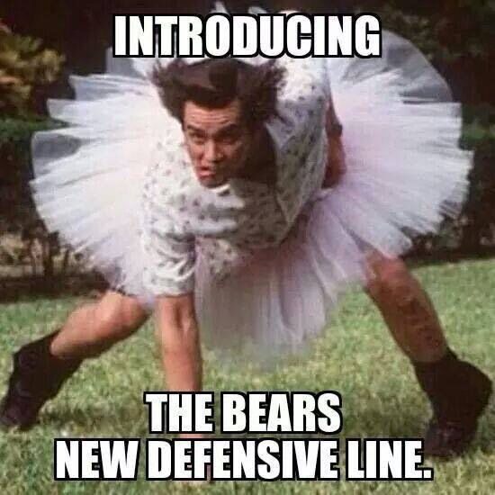 Introducing The Bears New Defensive Line Funny Football Memes Nfl Jokes Nfl Funny