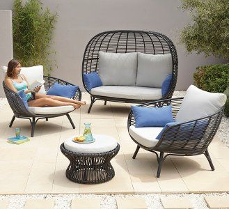 Cocoon Piece Sofa Set Garden Furniture George At Asda