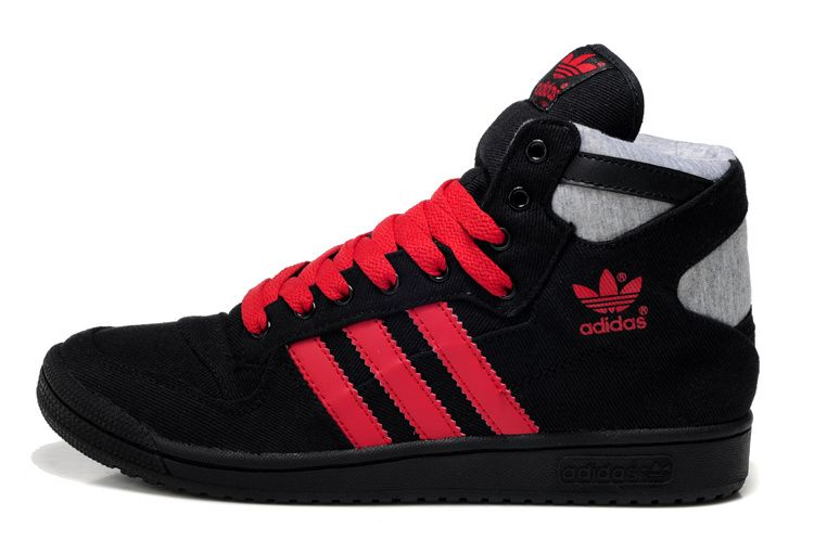 buy popular 9072e bb654 Adidas Classics Decade High Top Shoes Black Red On Salefor Cheap Wallpaper