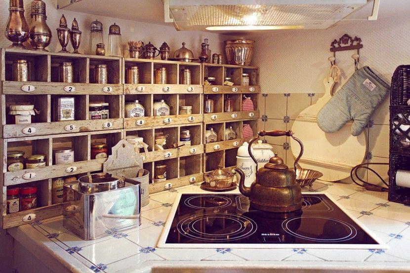 Vintage Küche shabby chic wohnen deko interior antik Homestories - shabby chic küchen