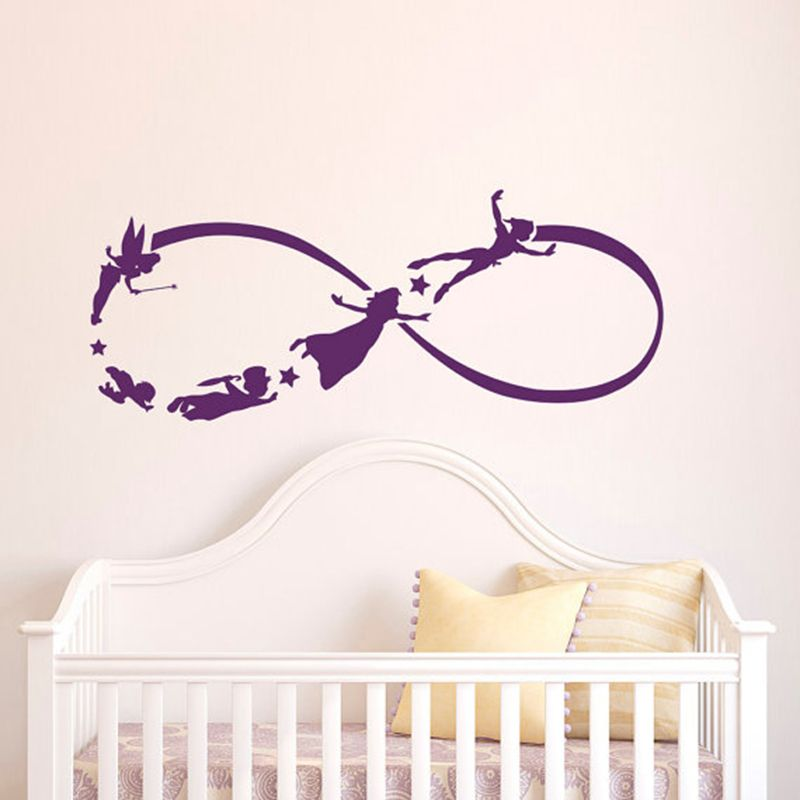 Peter Pan Infinity Wall Decal Nursery Stickers Fantasy Fairytale