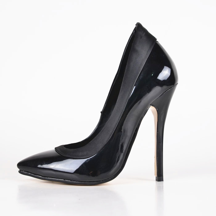 72.20$  Watch here - http://alim2s.shopchina.info/go.php?t=32306242509 - Classics Black Color Pointed Closed Toe Stiletto Heels Woman Pumps Slip-on Patent Leather Strong Made To Order Sexy Dress Shoes 72.20$ #magazineonlinebeautiful