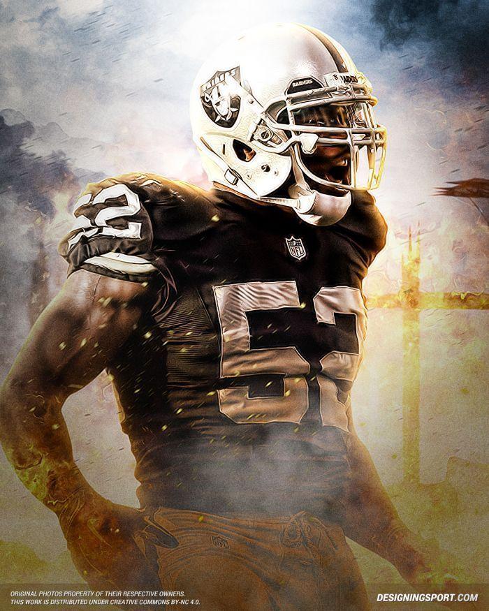 outlet store e3ecf e17af KHALIL MACK Poster [Multiple Sizes] NFL Football 03A ...