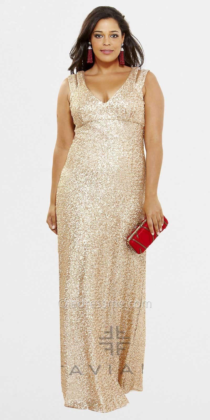 Plus size evening gowns double strap sequin plus size evening