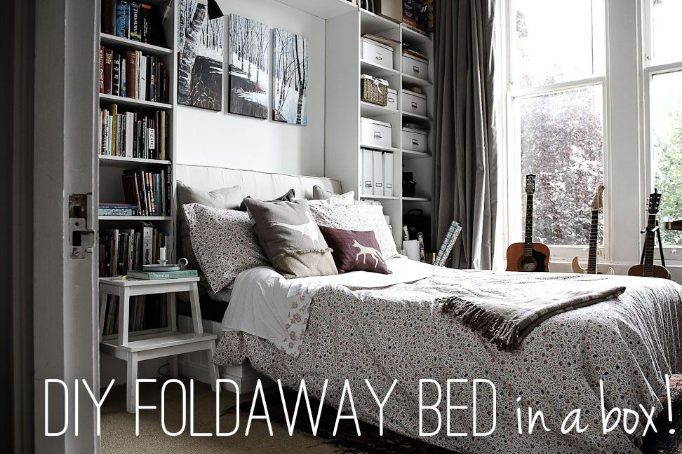 DIY Foldaway Bed in a Box made with the sofabed mechanism