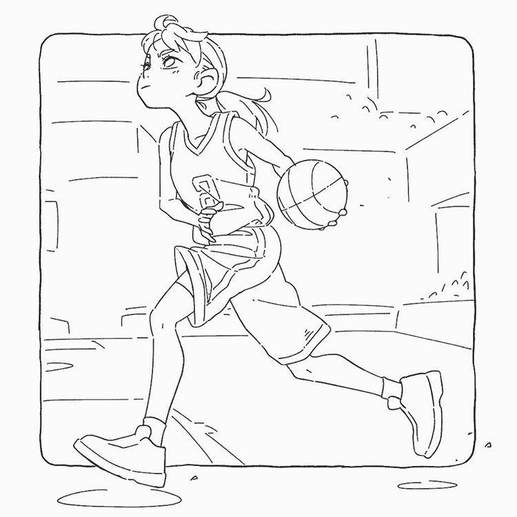 Basketball Girl Basketball Illustration バスケ 2020 バスケットボール イラスト 女子 バスケットボール キャラクターデザイン