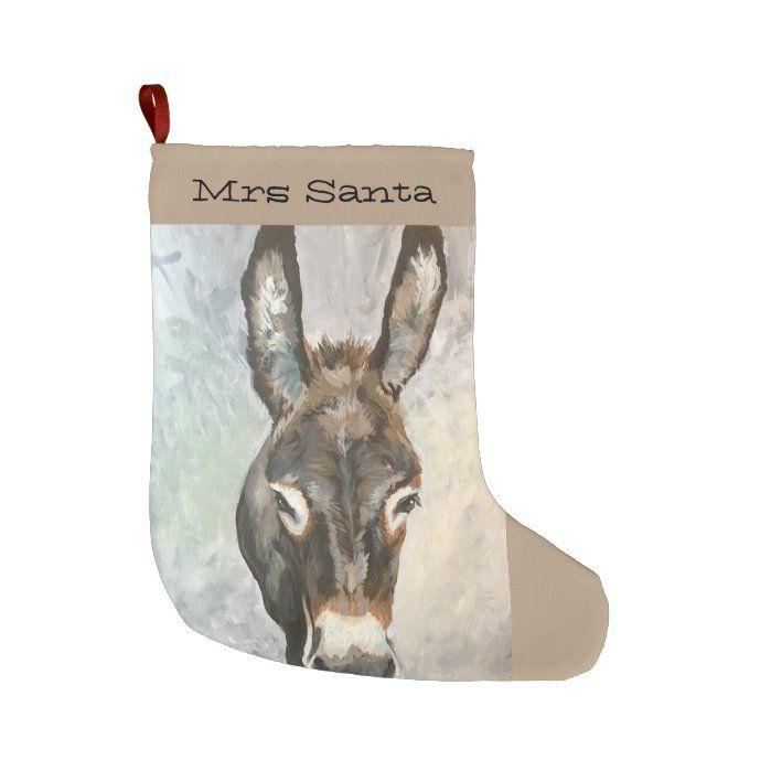 Brutus Miniature Donkey Christmas Stocking. Painted by Jac.