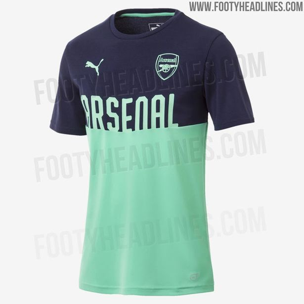 614c1ccfe New Arsenal third kit  leaked  as Gunners get set to wear unusual colour in  2018 19 season - Mirror Online