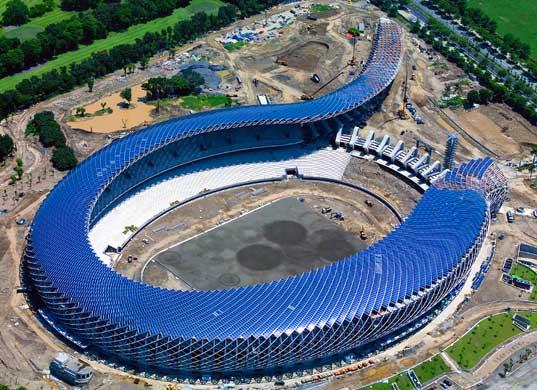 Toyo Ito Stadium Pv In Taiwan Google Search Solar Solar Panels Eco Architecture