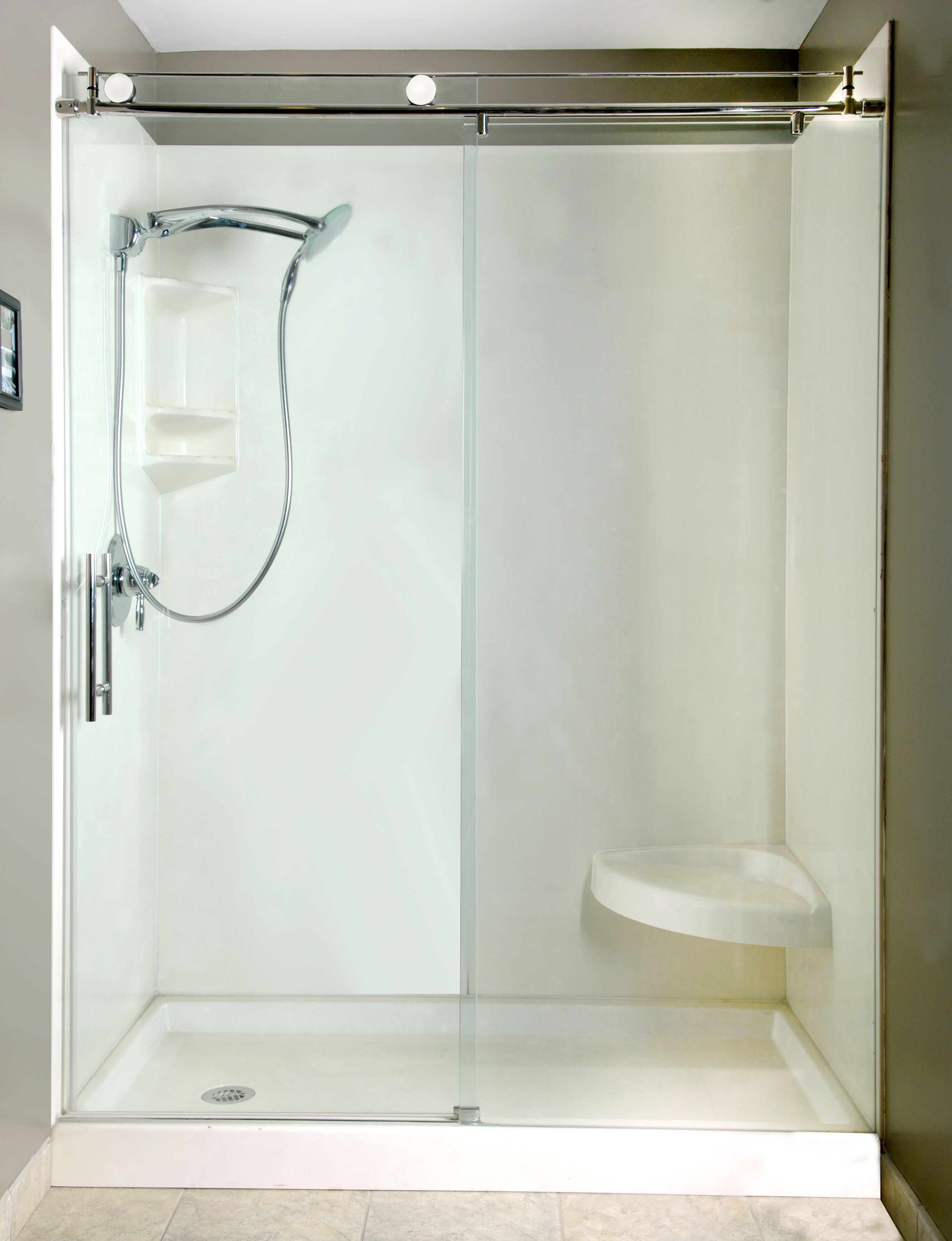 Simple Shower Stall No Problem Get One Of Our Custom Roller Doors