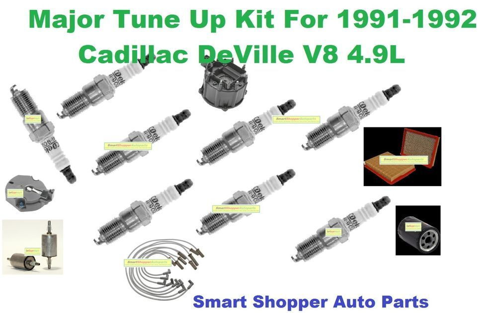 ignition tune up kit for 91-92 cadillac deville distributor cap rotor wire  set #aftermarketproducts