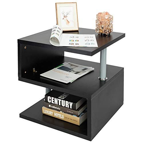 Wondrous Sofa Side Table End Table Night Stand Black Modern S Shaped Unemploymentrelief Wooden Chair Designs For Living Room Unemploymentrelieforg