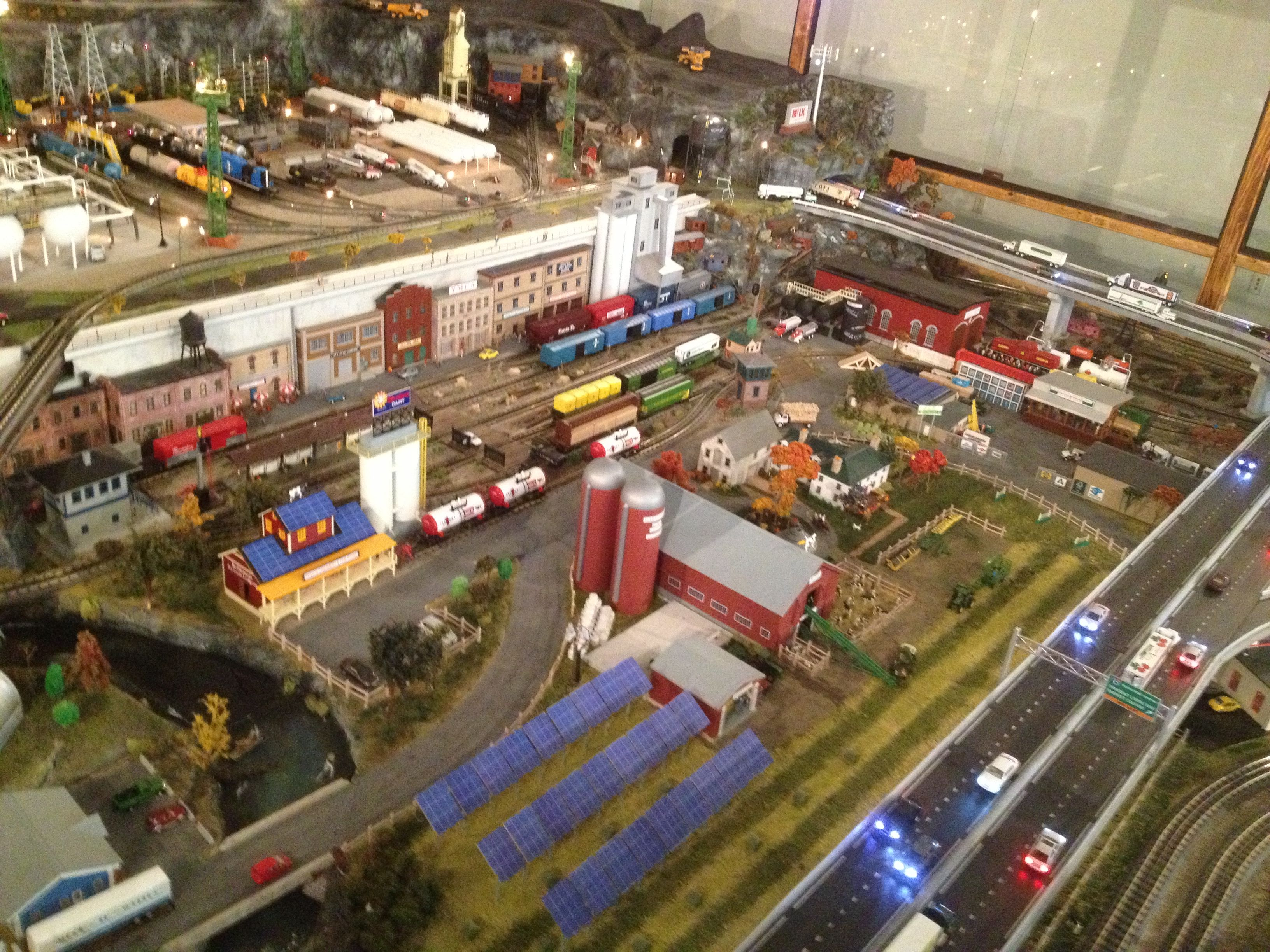 Train Village On Display At Lavalley Lumber In West Lebanon Nh