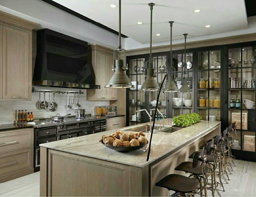 Love The Dark Wood Black See Through Pantry Doors In The Kitchen Modern Yet Classic Kitchen Design Custom Kitchen Cabinets Kitchen Inspirations