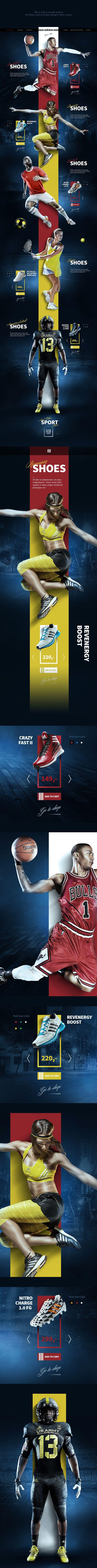 Sport Shoes Concept on Web Design Served